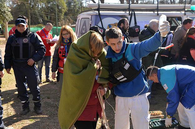 Sierras Chicas: simulacro ante emergencias por inundaciones