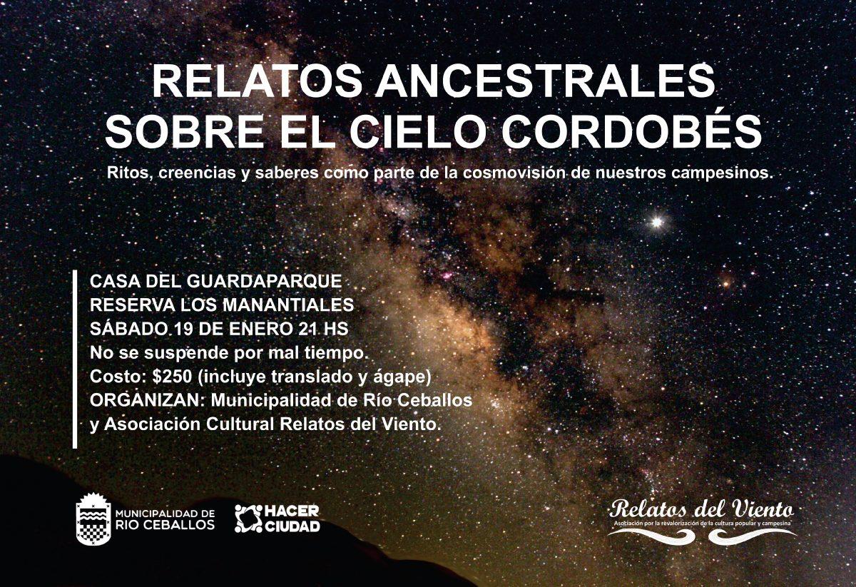 """""""Relatos ancestrales sobre el cielo cordobés"""" en Río Ceballos"""