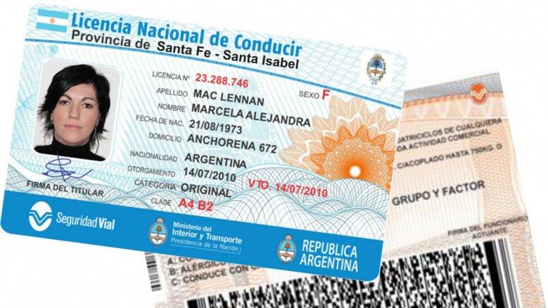 Río Ceballos: Licencia Nacional de Conducir