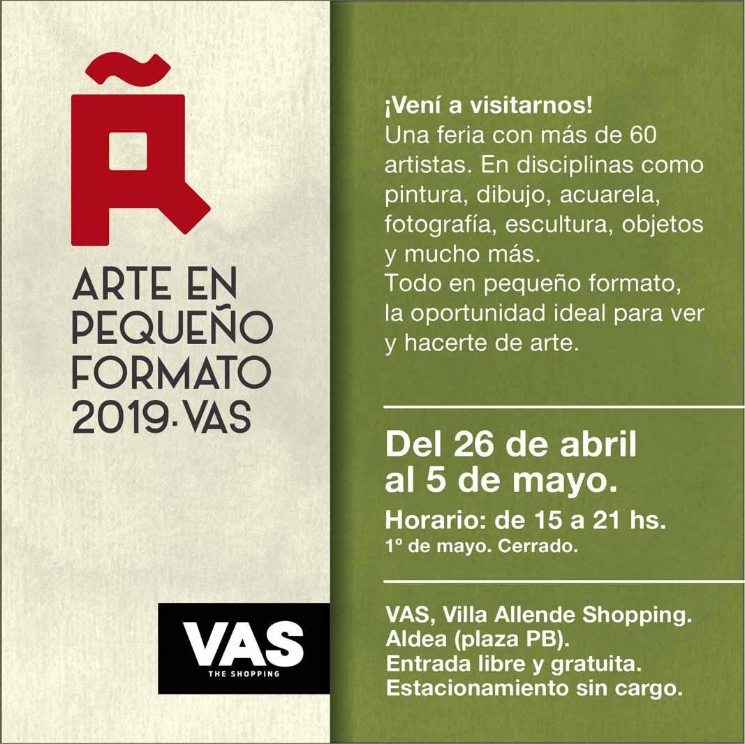 ARTE EN PEQUEÑO FORMATO 2019, VAS DE SHOPPING