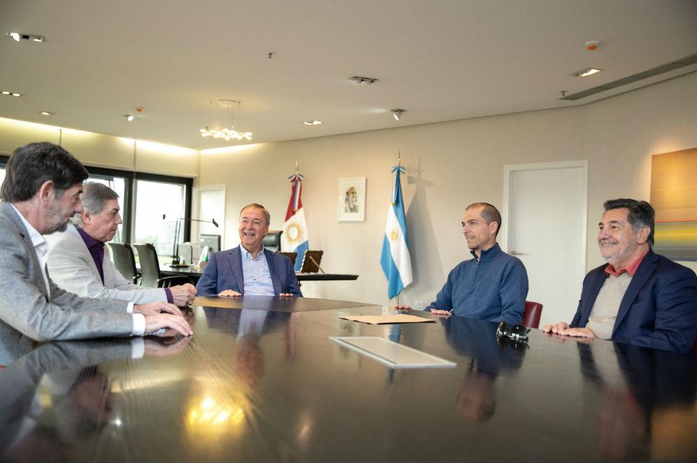 El gobernador recibió al intendente electo de Jesús María, Luis Picat.