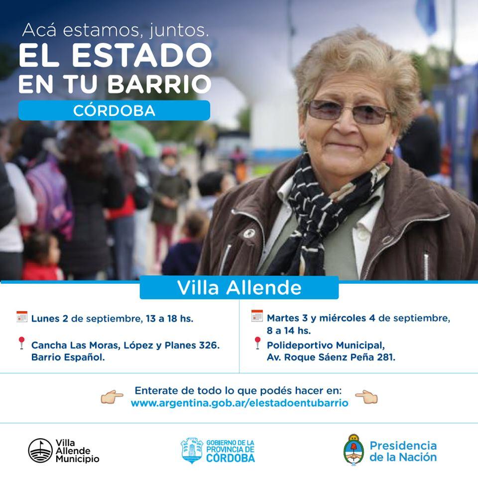 """""""El Estado en tu Barrio"""" vuelve a Villa Allende"""