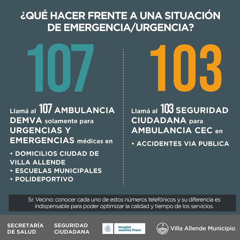 Qué hacer ante una emergencia o una situación de inseguridad en Villa Allende