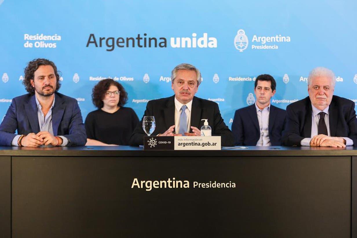 El Presidente anunció desde la Residencia de Olivos que el aislamiento seguirá hasta el 10 de mayo
