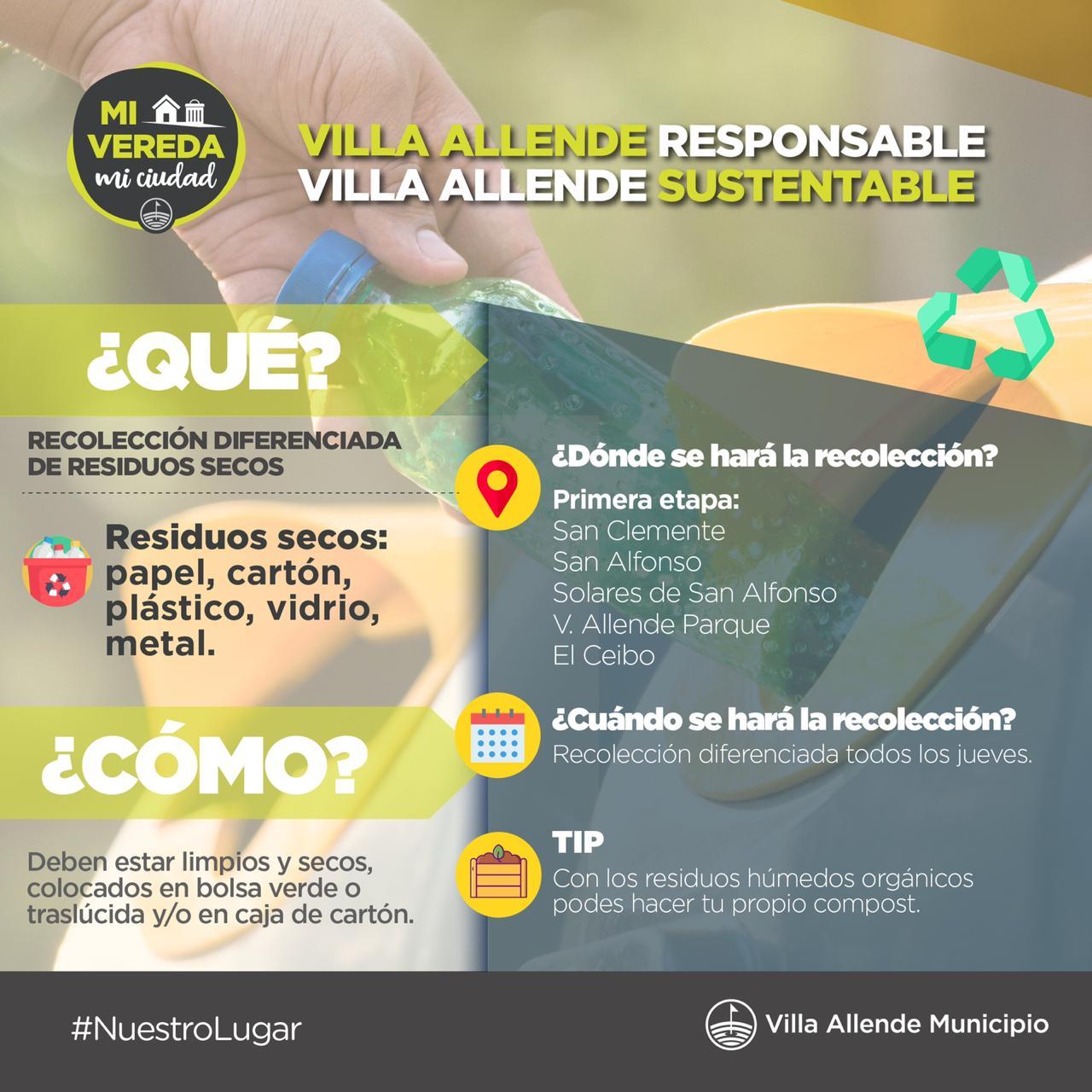 """Programa de recolección diferenciada """"Mi Vereda mi Ciudad""""."""