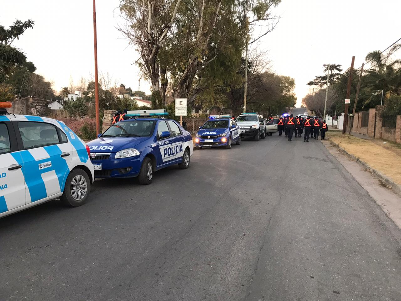 Operativos de saturación y seguridad en varios puntos de Villa Allende