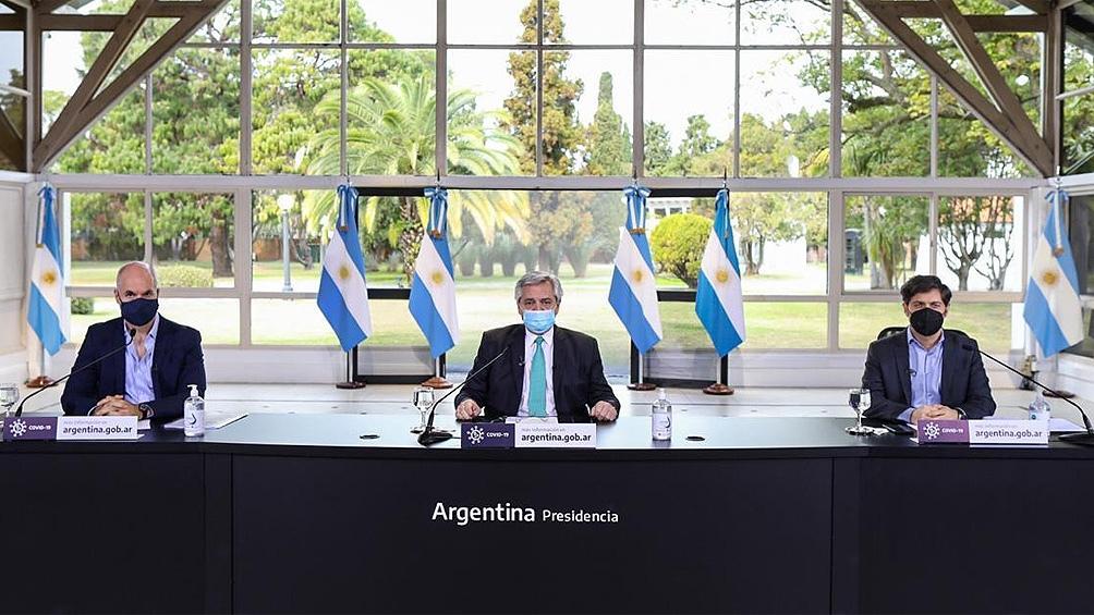 El Presidente recibe a Kicillof y Rodríguez Larreta para analizar la nueva etapa del aislamiento