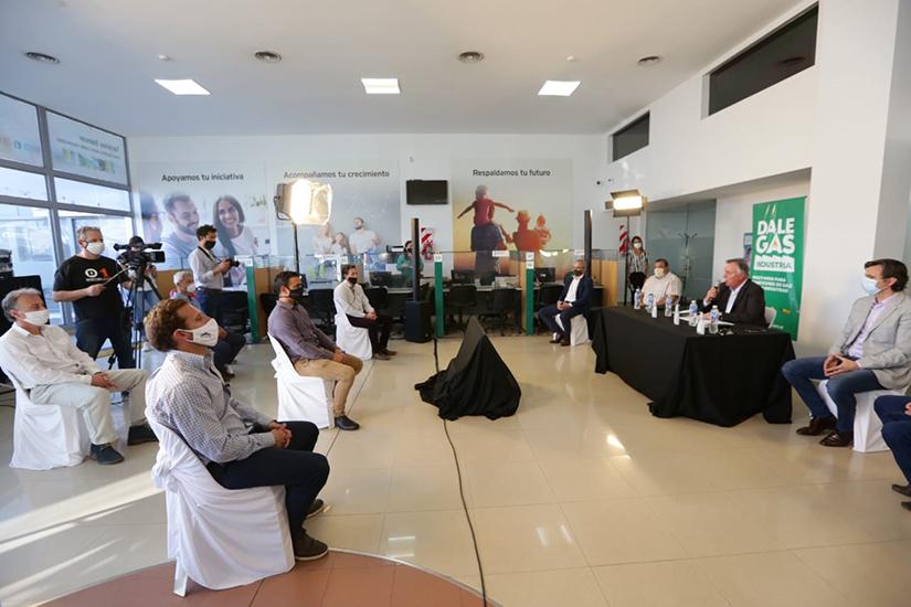Bancor financiará la conexión de gas a 7 PyMES del Parque Industrial de Villa Allende