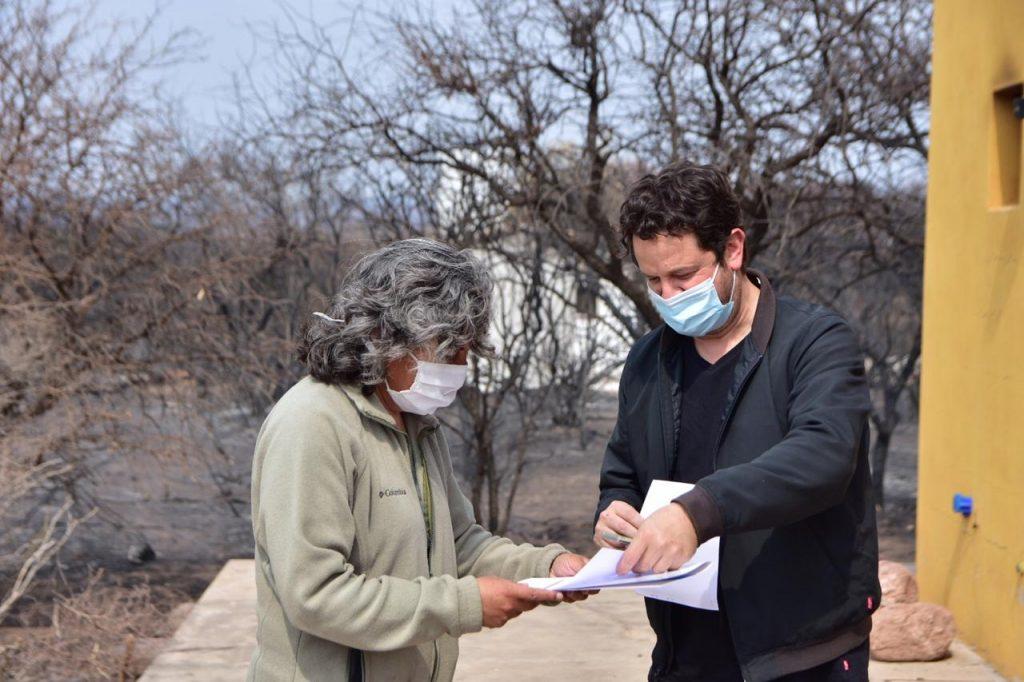 Incendios: continúa la entrega de asistencia a los damnificados