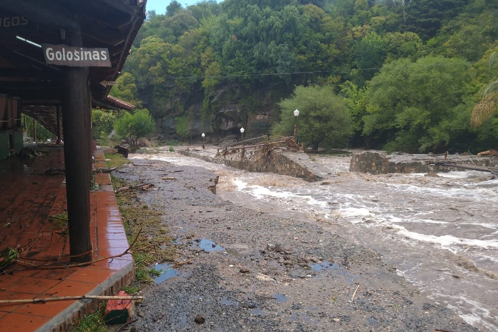 Cuantiosas pérdidas tras el temporal en el Valle de Punilla