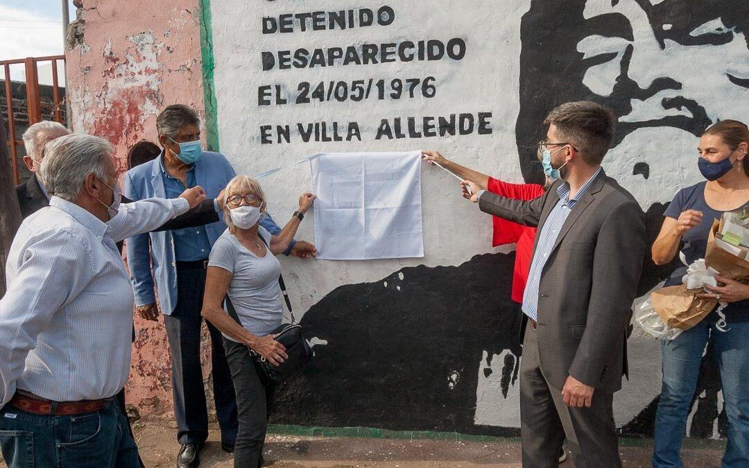 Restauraron mural en memoria de Gustavo Correa, desaparecido en la última dictadura