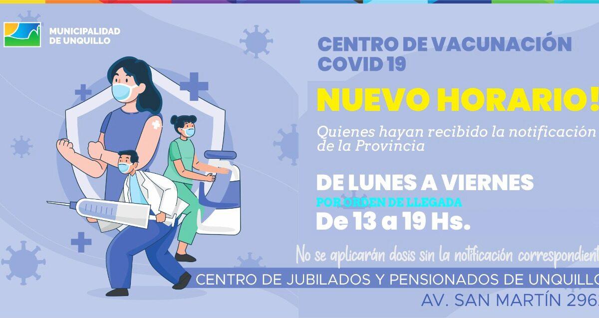 Unquillo: Puesto de vacunación Covid19