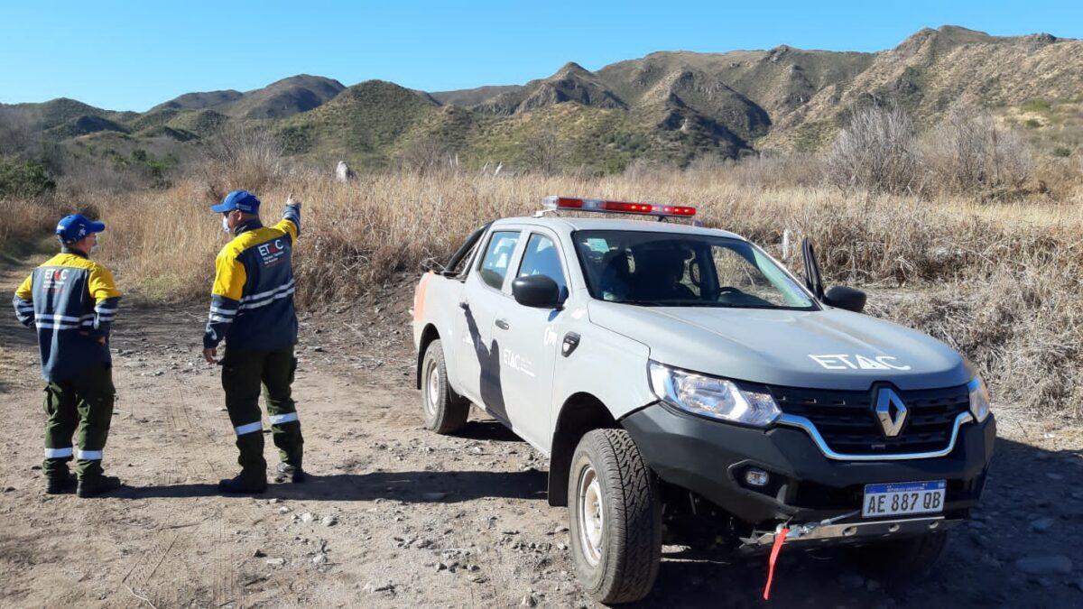 El Equipo Técnico de Acción ante Catástrofes está trabajando en Sierras Chicas